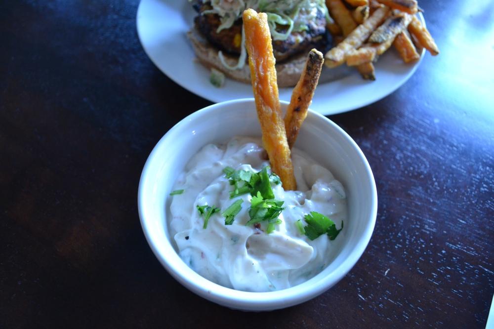 Aioli with sweet potato fries