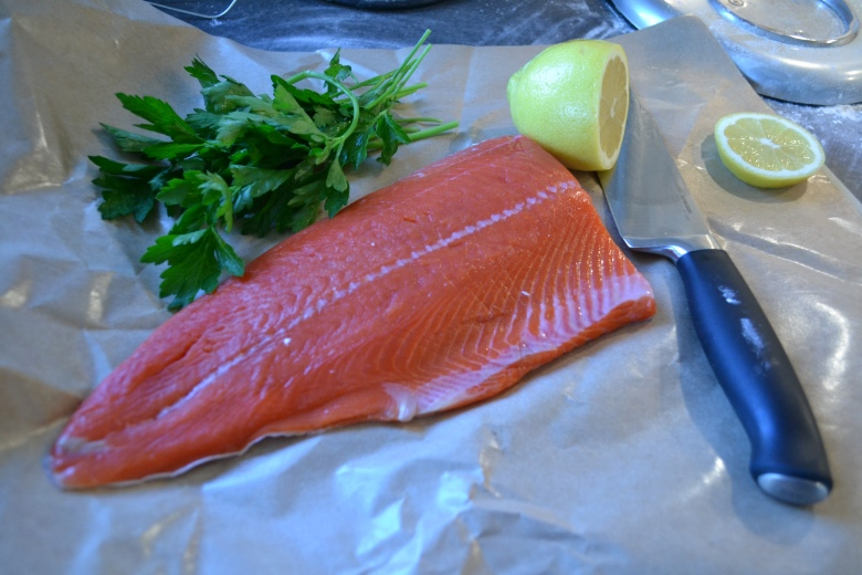 Sockeye, herbs and lemons... a perfect match