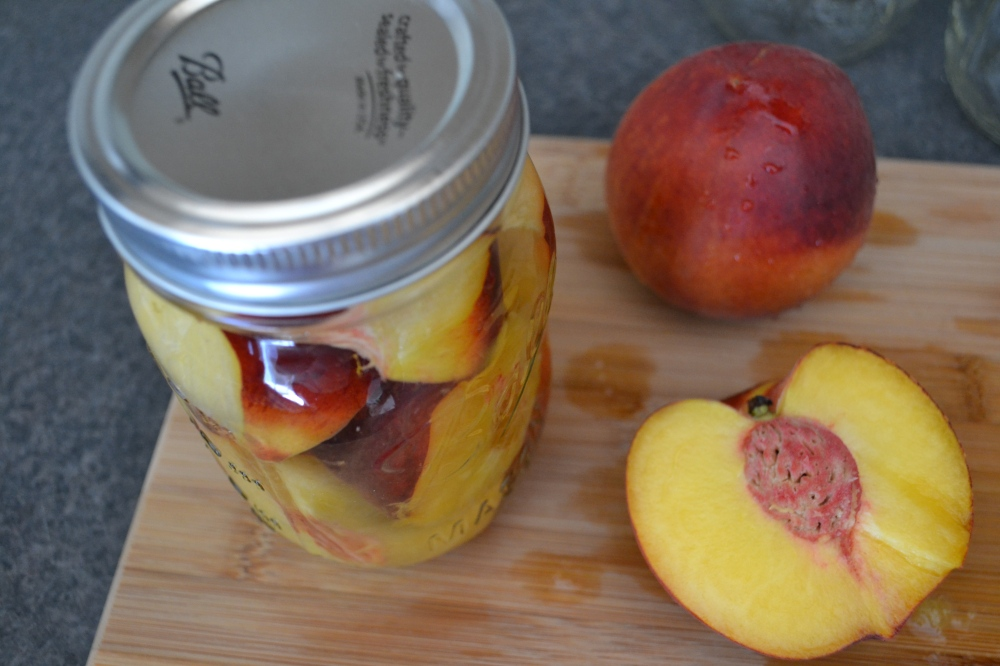 Peach-infused vodka