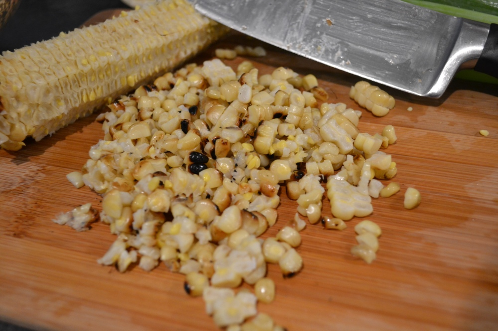 I added some grilled corn kernels to the second batch as well
