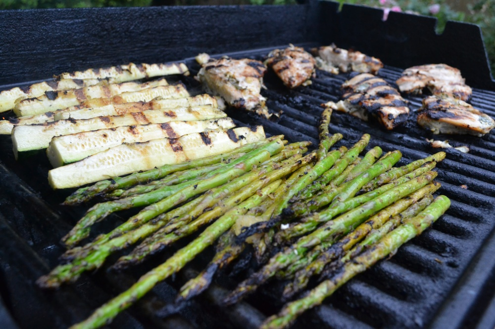 Make some room on the grill - don't worry, the chicken won't mind