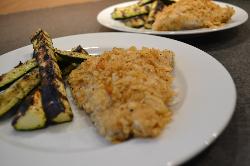I served the cooked fillets simply, with a side of grilled zucchini