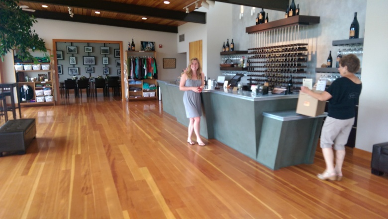 The tasting room at Amavi
