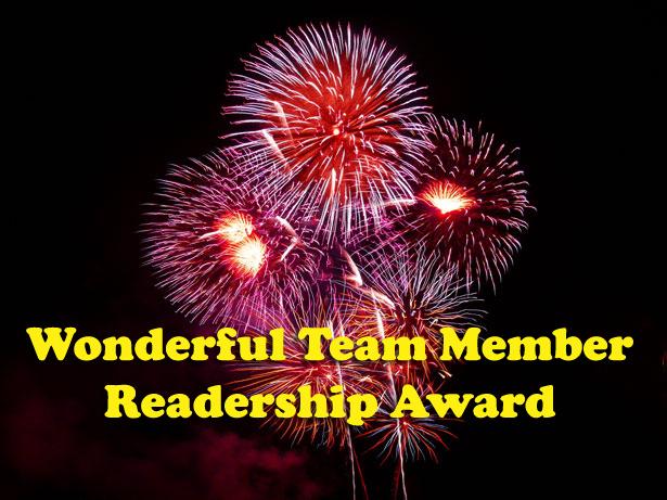 Passing It On - The Wonderful Team Readership Award