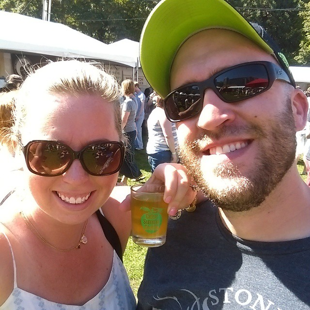 My lovely wife and my less-than lovely self at the Seattle Cider Summit this weekend!