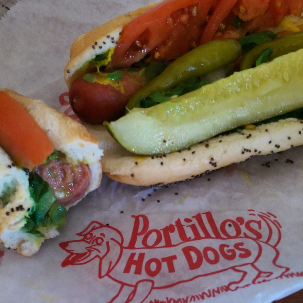 Portillo's famous Chicago dogs!